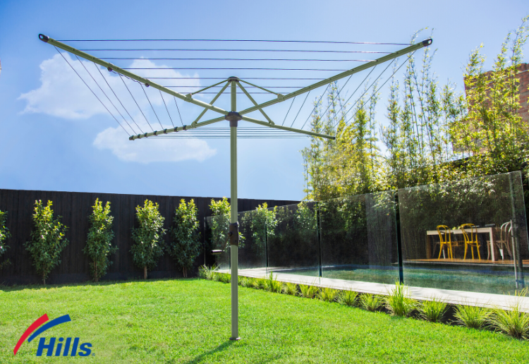 Win a Hills Hoist 45m Pale Eucalypt Medium Rotary Clothesline