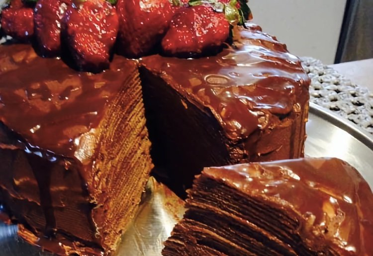 Chocolate Mille Crepes Cake Real Recipes From Mums