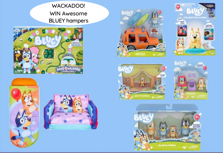 Wackadoo! Win 1 Of 2 Awesome Bluey Toys & Homewares Hampers