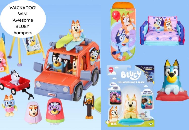 Wackadoo! Win 1 Of 2 Awesome Bluey Toys & Homewares Hampers