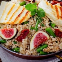 Warm Halloumi, Couscous and Fig Salad