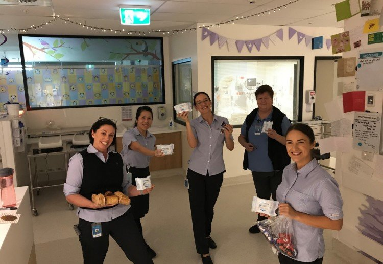 WaterWipes® Deliver Care Packages To Hospitals Across Australia