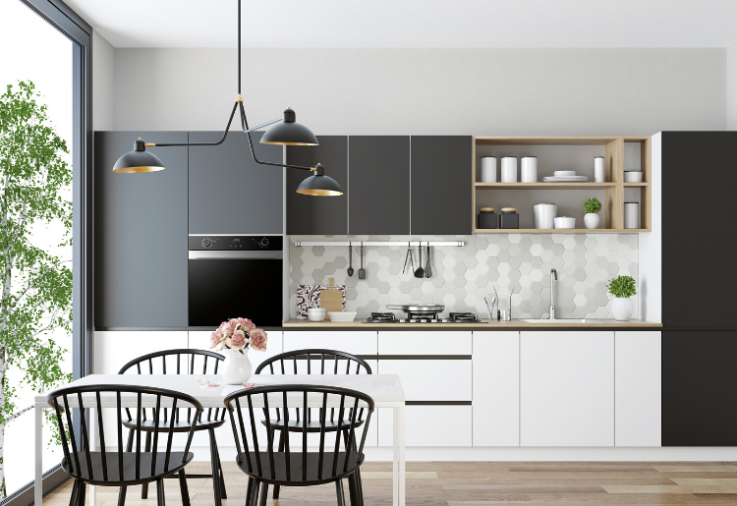 A beautiful fresh kitchen with Kleenmaid appliances