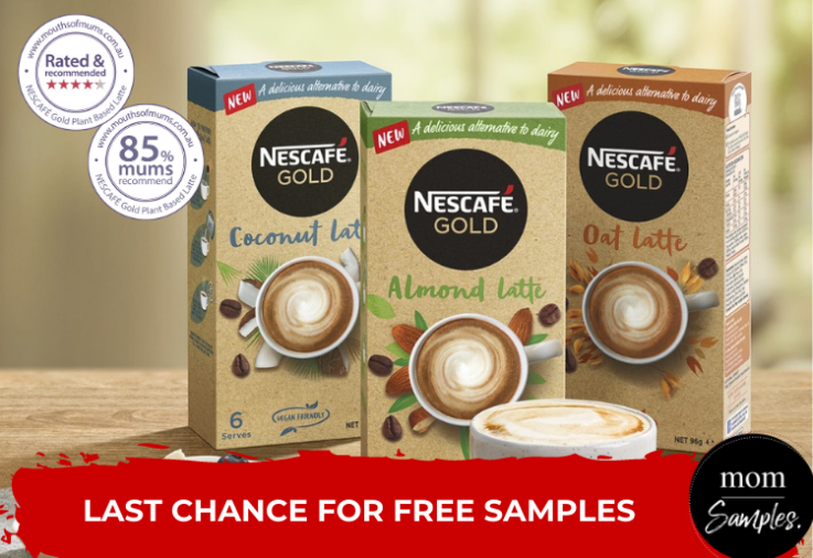 Nescafe Gold Plant Based Latte_Samples_Last Chance to Apply_750x516