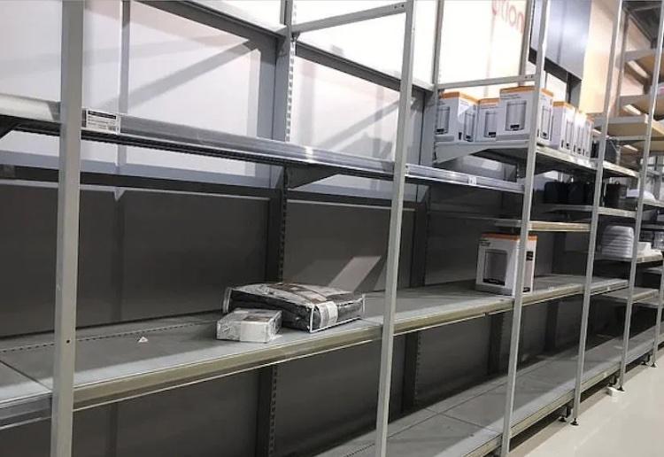empty kmart shelves 2