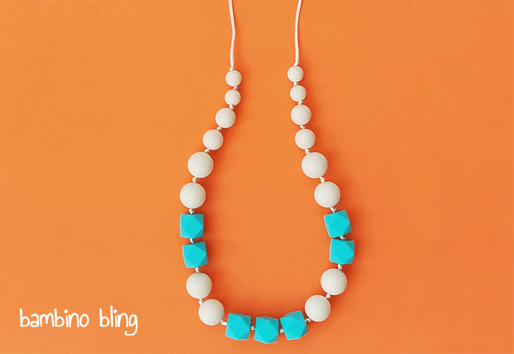 WIN 1 of 15 Stylish Silicone Teething Necklaces from Bambino Bling