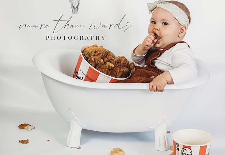 Mum Viciously Attacked For KFC-Themed First Birthday Photo Shoot