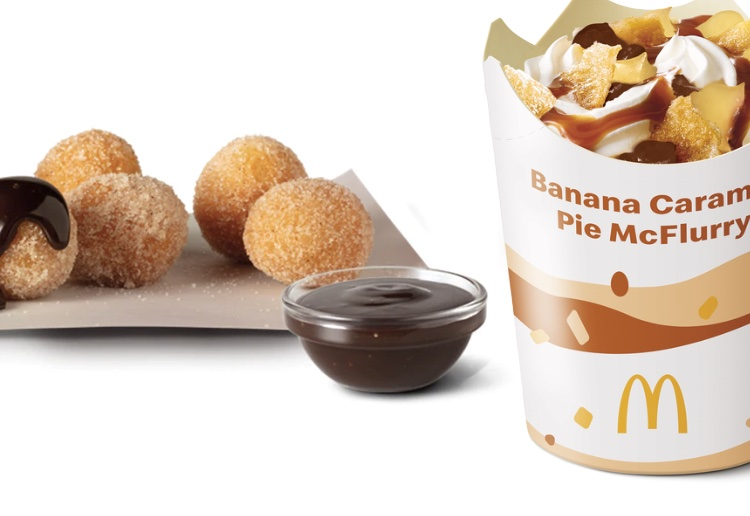McDonalds Launches Doughnut Balls And The New Banana Caramel Pie McFlurry