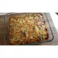 Cheesy Spinach, Mushroom and Mince Bake Recipe