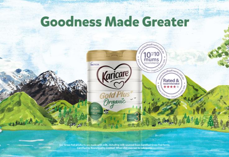 karicare gold plus+ organic toddler milk review with dinkus