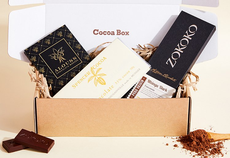 WIN 1 of 4 Artisan Chocolate Subscription Boxes With Cocoa Box