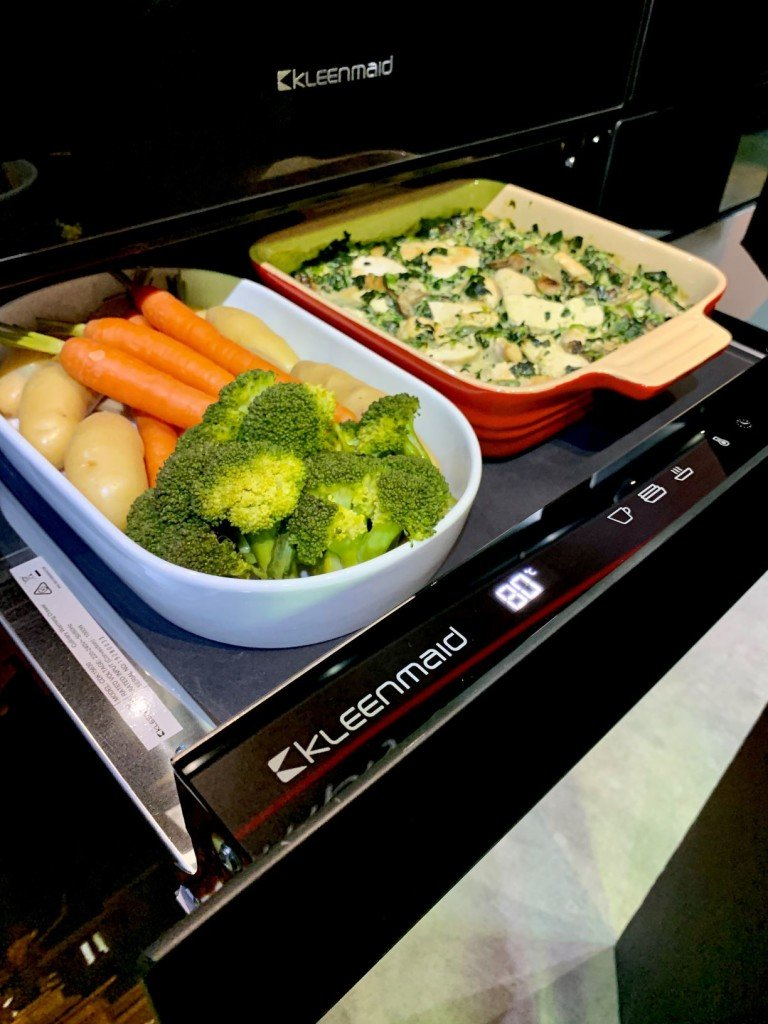 Beautiful baked vegetables in the Kleenmaid Culinary Drawer