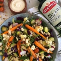 Roast Vegetable Salad with Garlic Aioli