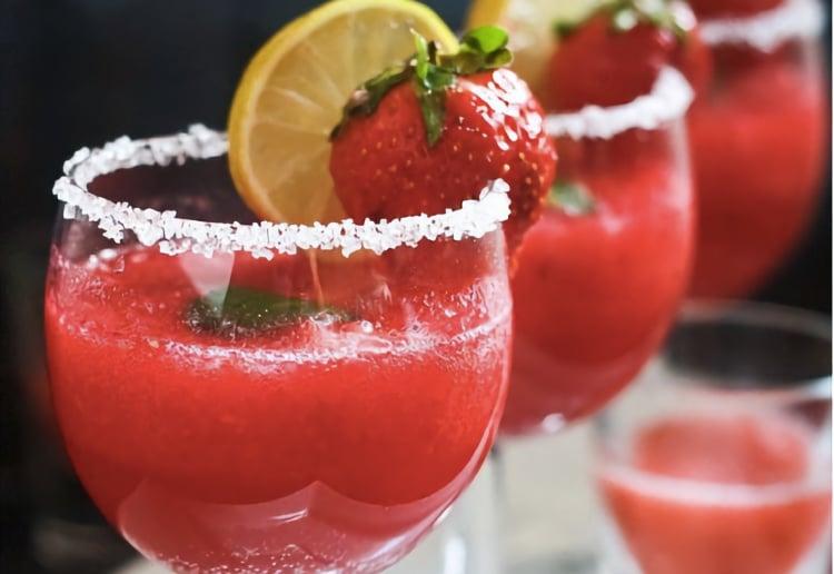 Non-Alcoholic 3-ingredient Strawberry Margarita