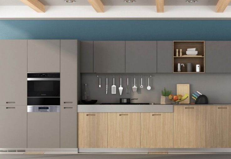 A brand new kitchen featuring Kleenmaid products