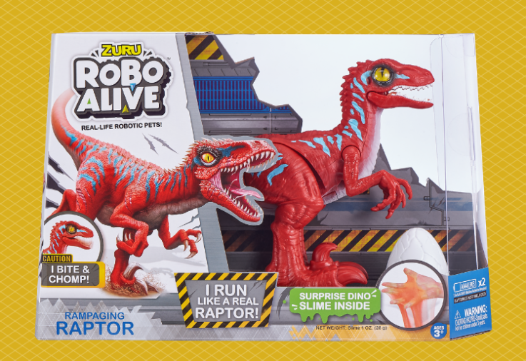 WIN 1 of 6 Robo Alive Rampaging Raptor Dinosaur Toy packs