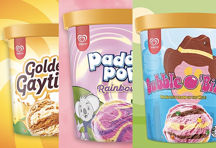 Now You Can Get Gaytime, Bubble O'Bill And Paddle Pop Ice Cream In Tubs