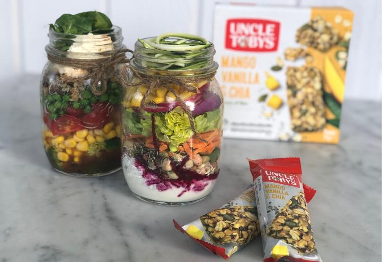 Uncle Tobys Lunchtime Hacks Salad Jars