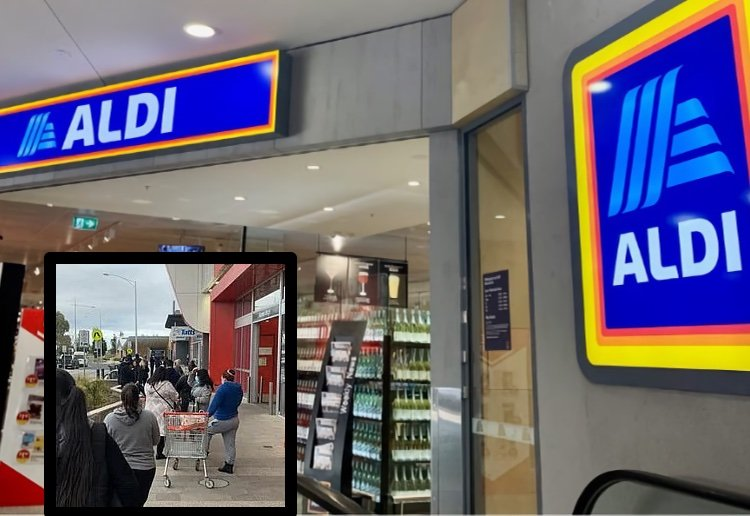 Massive Crowds Ignore Social Distancing To Get Hold Of Aldi Special Buys