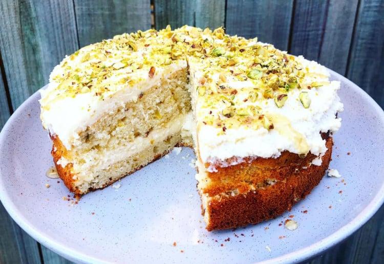 Spiced Pistachio Cake