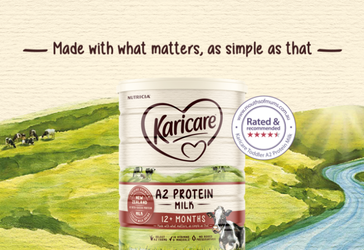 Karicare Toddler A2 Protein Milk 12+ Months review image with dinkus