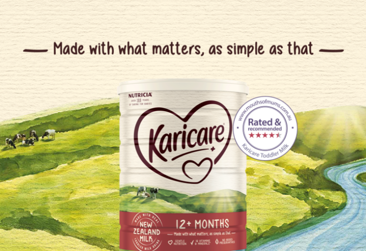 image of Karicare Toddler Milk 12+ Months review image with star rating dinkus