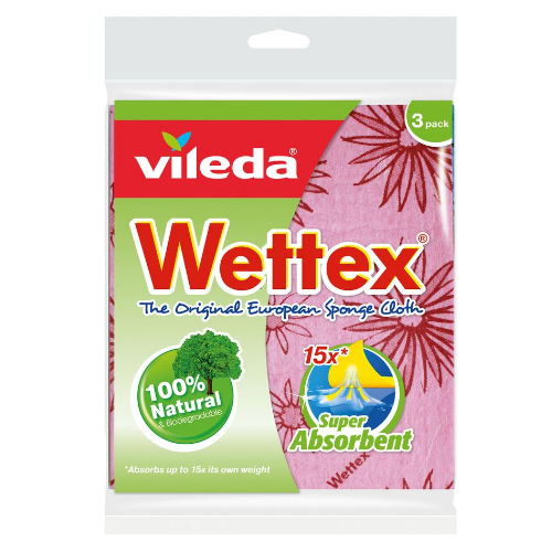 Image of Vileda Wettex The Original European Classic Sponge Cloth 3PK