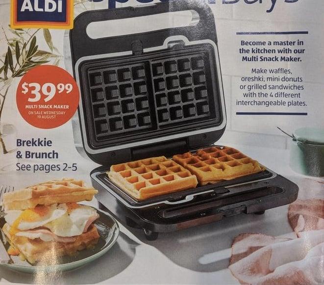 aldi snack maker waffles