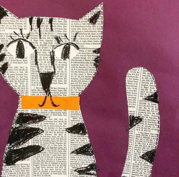 Newspaper cats