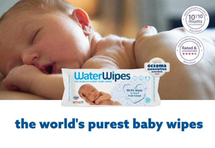 WaterWipes Review Main Image with 10 out of 10 Dinkus 750 x 516