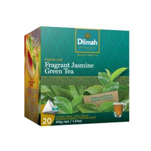 Image of Dilmah REAL LEAF Tea Bags Fragrant Jasmine Green Tea