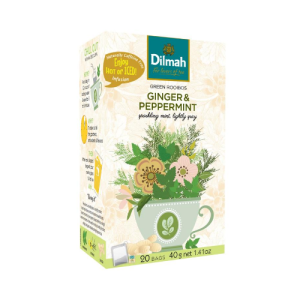 Image of Dilmah GREEN ROOIBOS GINGER & PEPPERMINT INFUSION