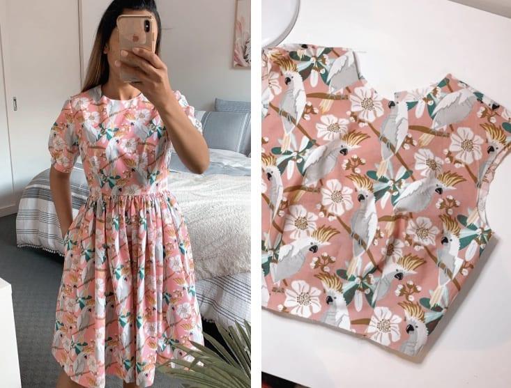 dress using kmart tea towels