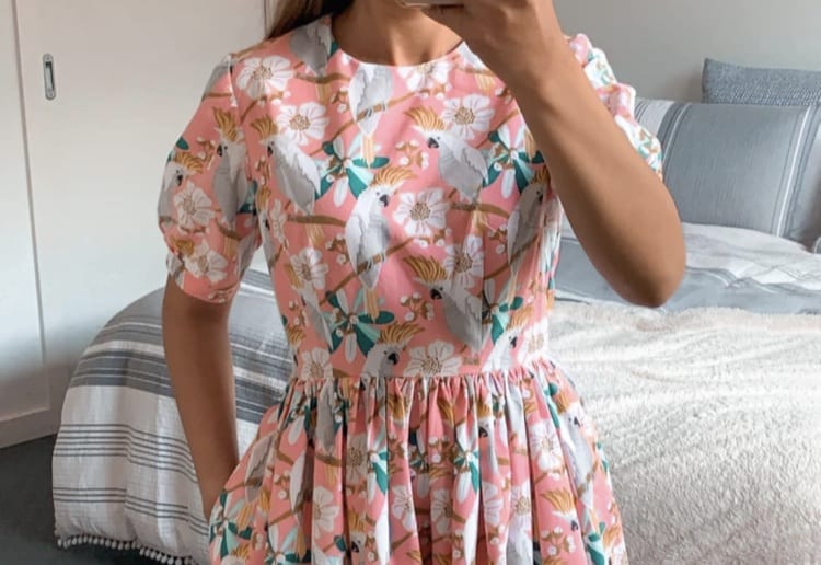 Woman Makes Incredible Unique Dress With $1 Kmart Tea Towels