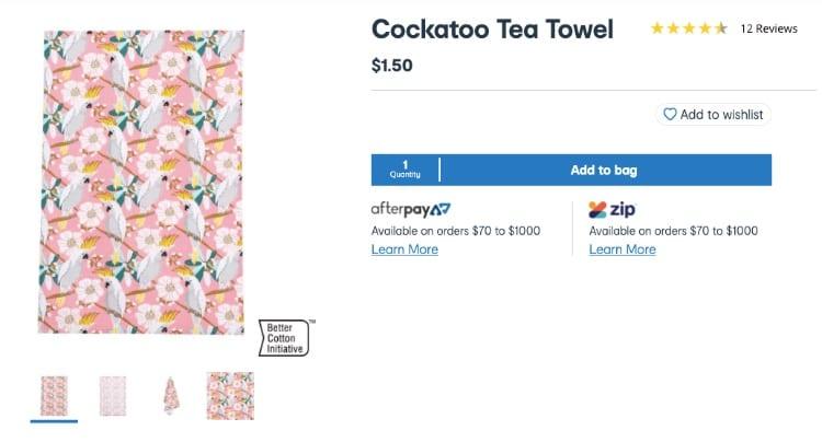 kmart tea towels