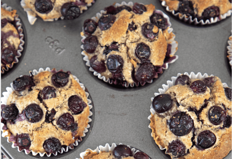 Australian Blueberry & Chia Breakfast Muffins