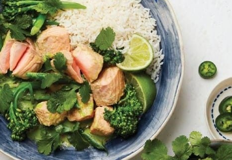 Salmon Thai Green Curry