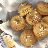 Passionfruit and Chia Wholegrain Muffins
