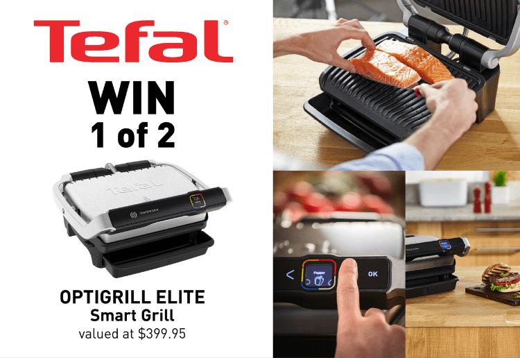 WIN 1 of 2 Tefal OptiGrill Elite Smart Grills