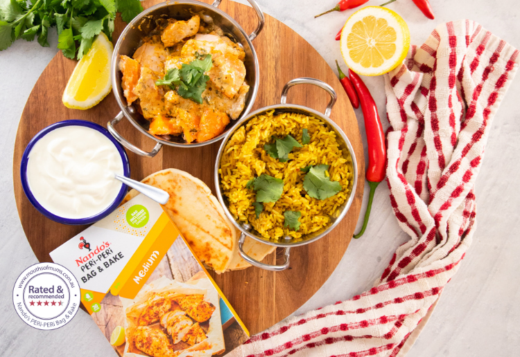 Coconut Chicken Curry Dinner in a Bag!
