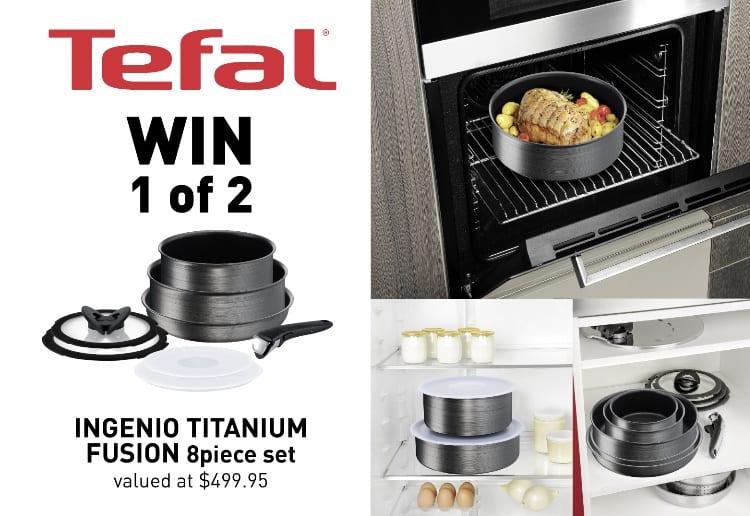 WIN 1 of 2 Tefal Ingenio Titanium Fusion 8-Piece Cookware Sets