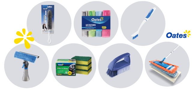 Image of Oates products included in the Oates Cleaning Review
