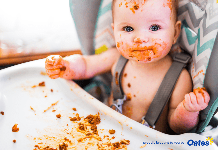 What A Mess! How To Keep Baby's High Chair Clean