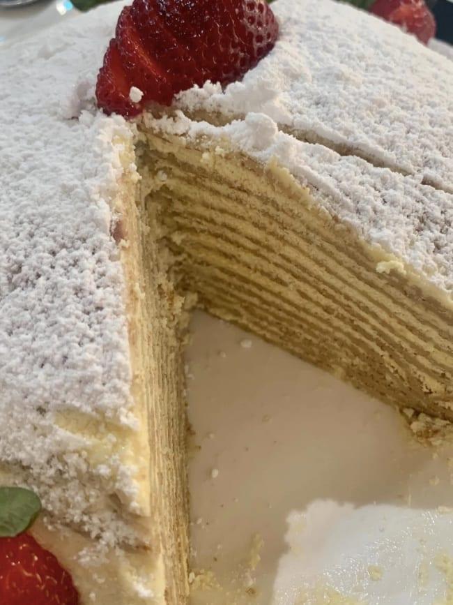 christmas treat crepe cake layers