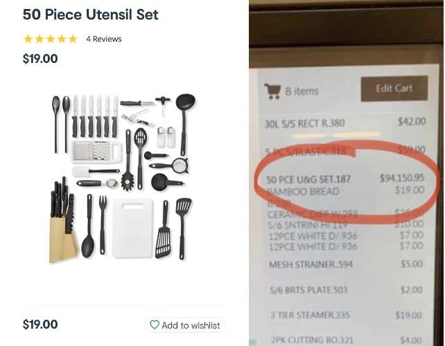 50 piece utensil kit