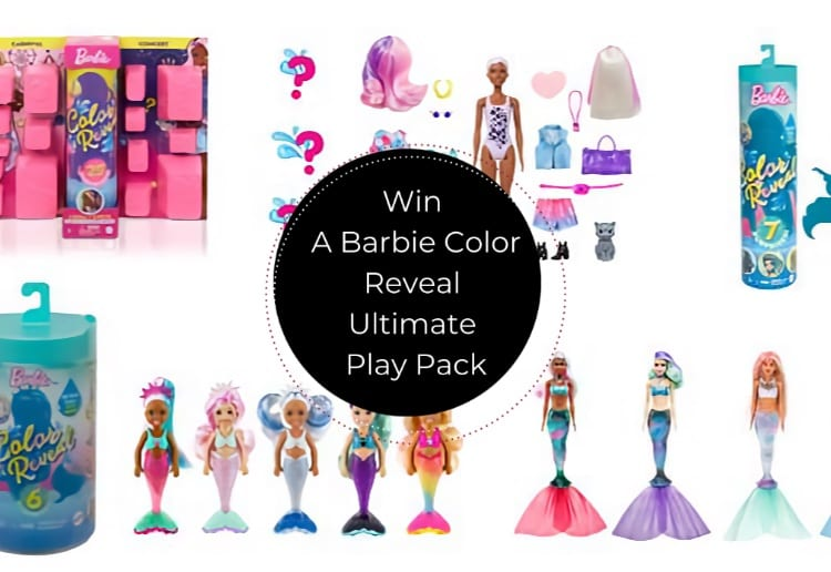 Win 1 Of 2 Barbie Color Reveal Ultimate Play Packs