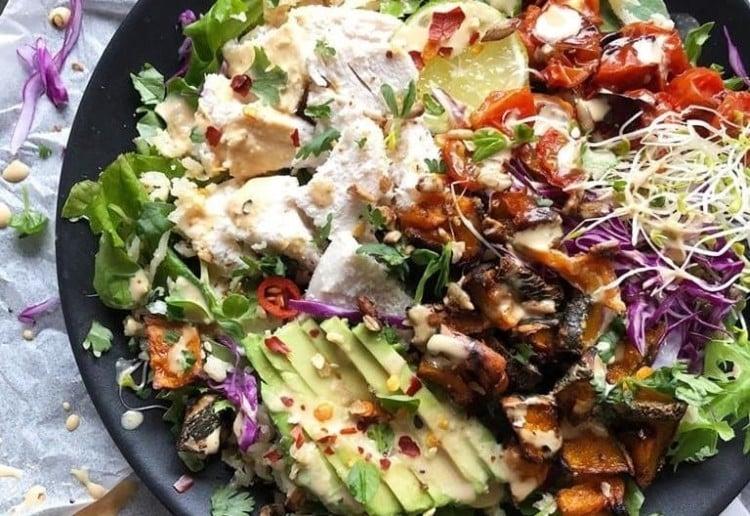 Golden Spiced Thai Style Chicken Salad