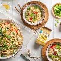 Simple Chicken Peanut Noodles