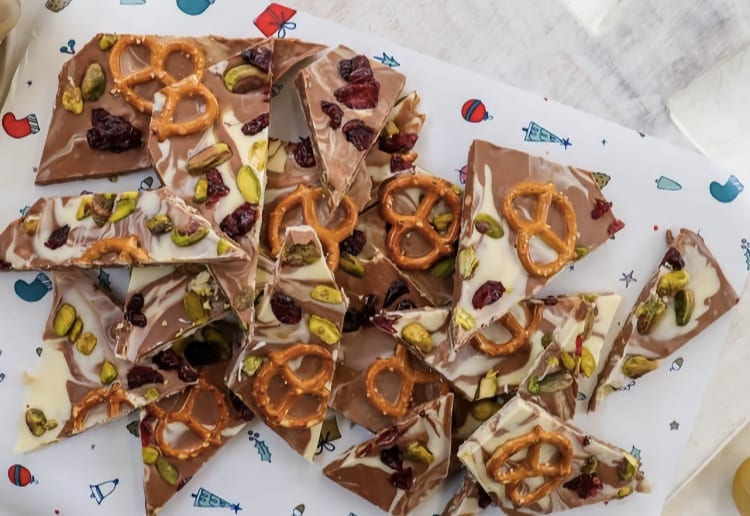 Nutty Christmas Bark
