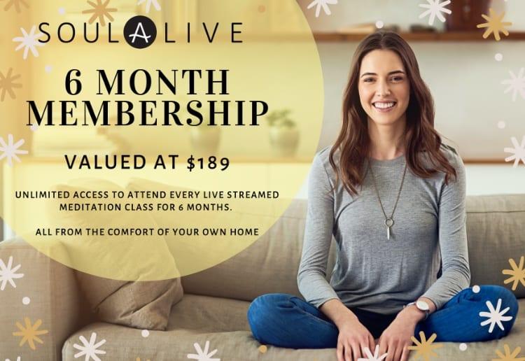 Win 1 of 5 Six Month Soul Alive Meditation Memberships